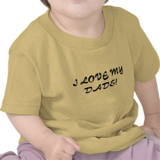 love DADS lgbt gay infant baby clothes  t-shirt