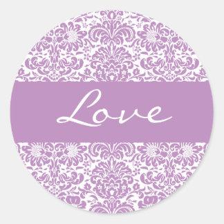 Love Damask Envelope Sticker Seal