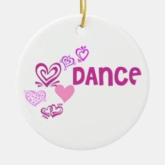 Love Dance Round Ceramic Decoration