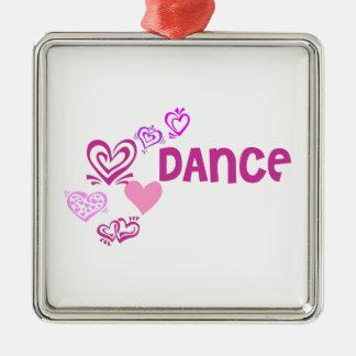 Love Dance Silver-Colored Square Decoration