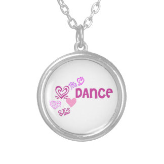 Love Dance Silver Plated Necklace