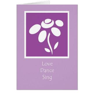 love dance sing card