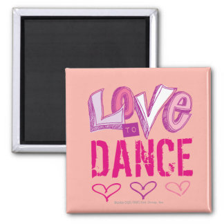 Love Dance Square Magnet
