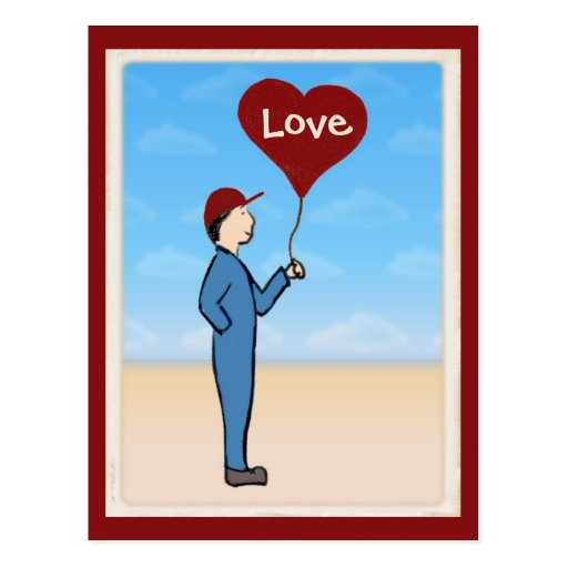 Love Delivery Customizable Postcard