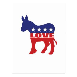 Love Democrats Postcard