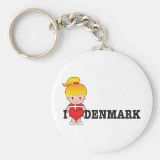 Love Denmark Key Ring