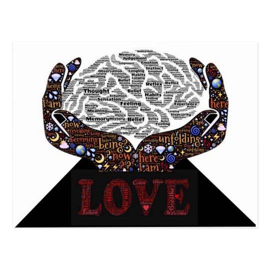 Love described in many words postcard
