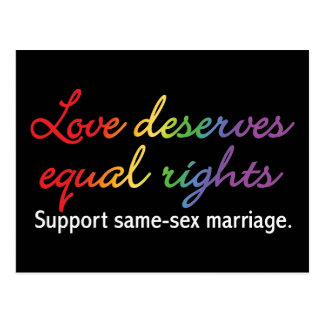 Love Deserves Equal Rights Postcard