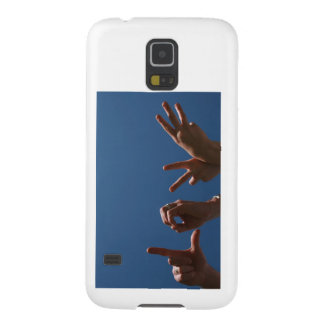 Love Design in Hand Signals Cases For Galaxy S5