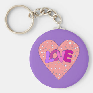Love Design with Heart Key Chains