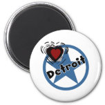 Love Detroit Fridge Magnets