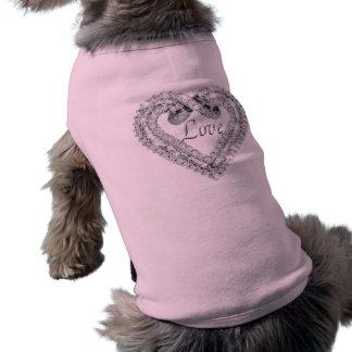 Love Diamond Heart Dog Shirt
