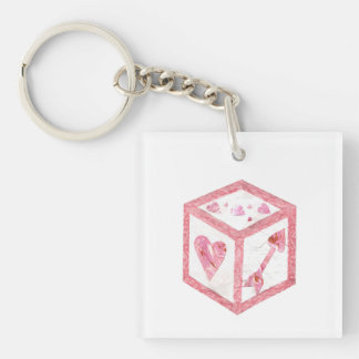 Love Dice Double Sided Keyring