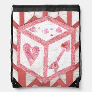 Love Dice Drawstring Bag