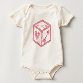 Love Dice No Background Organic Babygro Baby Bodysuit
