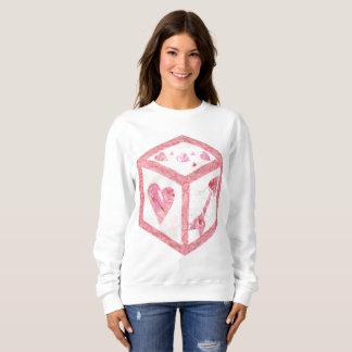 Love Dice No Background Women's Sweatshirt