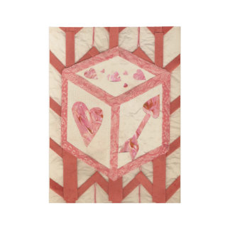 Love Dice Wooden Poster