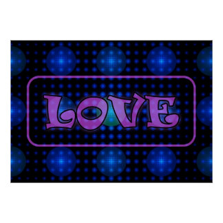 """""""Love"""" Disco Ball Fractal Posters"""