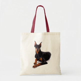 Love Doberman Pinscher Puppy Dog Tote Bag