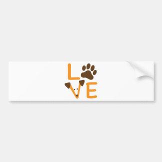 LOVE DOG BUMPER STICKER