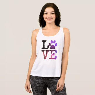 LOVE, Dog Paw Print Sport Tank Top