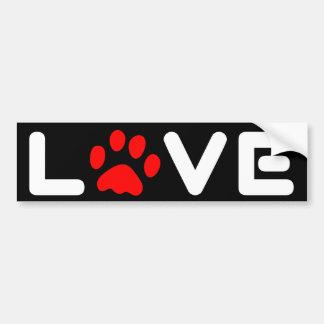 Love dogs, animals. bumper sticker
