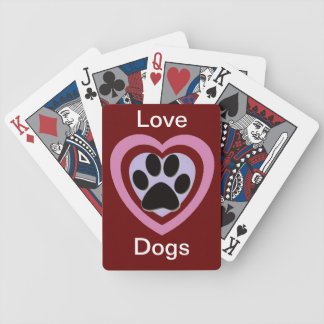 Love Dogs Playing Cards