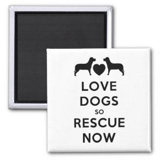 Love Dogs So Rescue Now Refrigerator Magnets