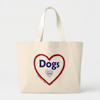 Love Dogs (Woof) Canvas Bags