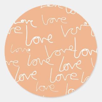 love doodles round sticker