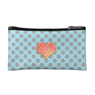 LOVE DOTS -Custom Your Color- Small Cosmetic  Bag Cosmetics Bags