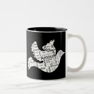 Love Dove Two-Tone Coffee Mug