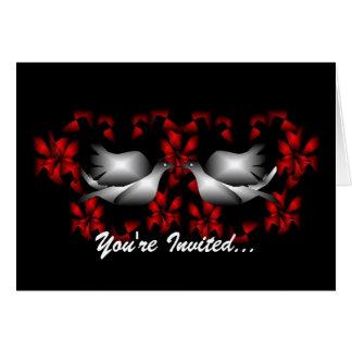 Love Doves Blank Invitation Note Card
