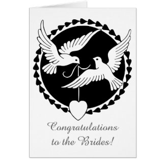 Love Doves Lesbian Wedding Card