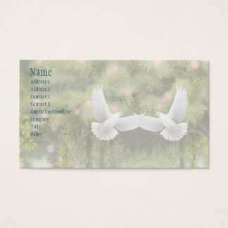 Love Doves Romantic Business Card