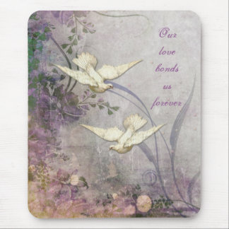 Love - Doves - Romantic - Forever Bond - Wedding Mouse Mat