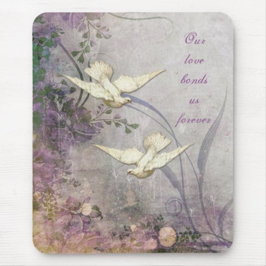Love - Doves - Romantic - Forever Bond - Wedding Mouse Mat