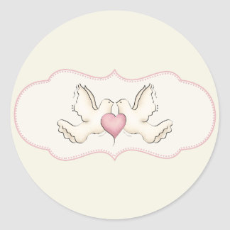 Love Doves Stickers