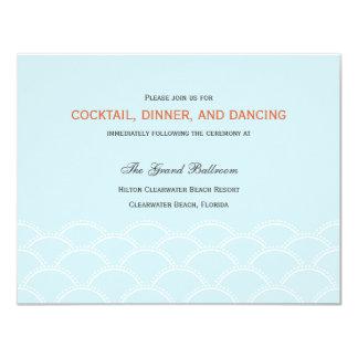 Love Doves Wedding Reception Cards - Sky Blue 11 Cm X 14 Cm Invitation Card