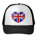 love drapeau Angleterre Casquettes