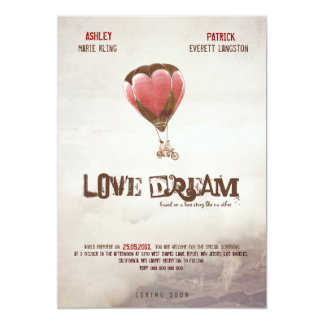 """Love Dream Wedding Invite 5"""" X 7"""" Invitation Card"""