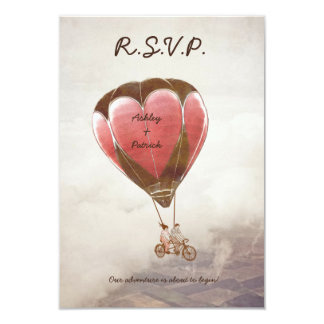 "LOVE DREAM Wedding RSVP Invitation 3.5"" X 5"" Invitation Card"