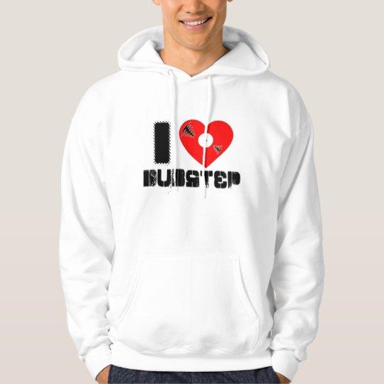 love dubstep vinyl heart hoodie