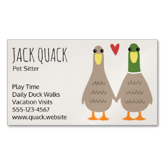 Love Ducks Magnetic Business Card
