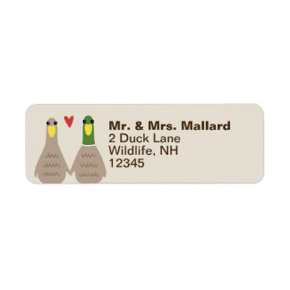 Love Ducks Return Address
