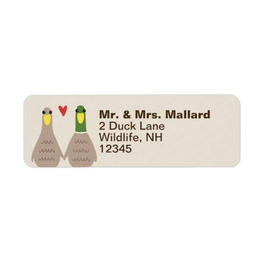 Love Ducks Return Address