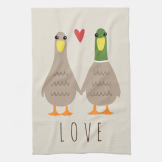 Love Ducks Tea Towel