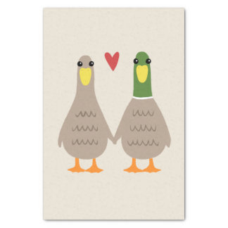 Love Ducks Tissue Paper