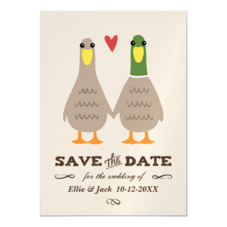 Love Ducks Wedding Save the Date Magnetic Invitations