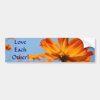 Love Each Other! bumper sticker Daisy Flowers